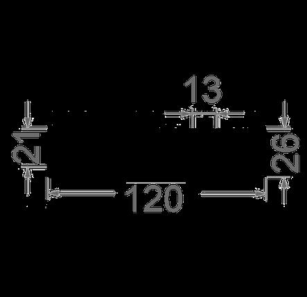 Радиаторный профиль 120x26., фото 2