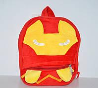 Красный детский плюшевый рюкзачок для мальчика, дошкольный рюкзак-игрушка