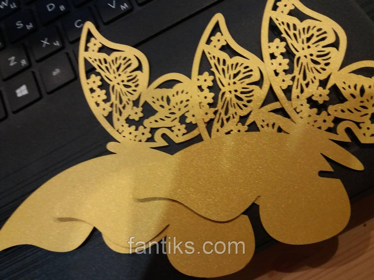 Бабочки для декора в комлекте10 шт.(золото)