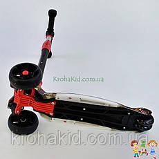 Самокат трехколесный Best Scooter, 3 колеса PU со светом, d=12 см, свет платформы UL-40069S, фото 3