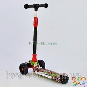 Самокат трехколесный Best Scooter, 3 колеса PU со светом, d=12 см, свет платформы UL-40069S, фото 2