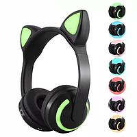 Наушники zaiyou zw-19 Bluetooth с кошачьими ушками LED подсветка 7 цветов в 1