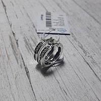 Серебряные серьги кольцами с фиантами