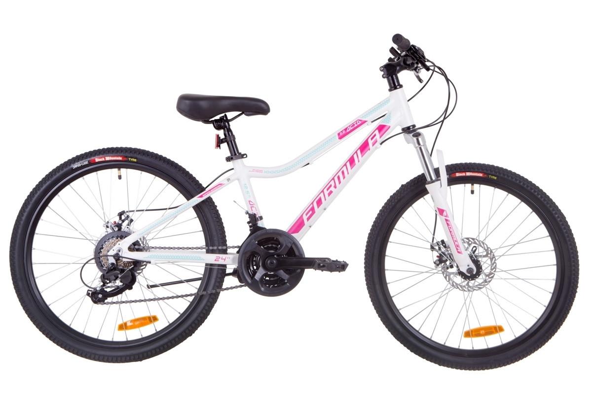 """Велосипед горный Formula Acid 24"""" 2.0 DD 2019  алюминиевая рама 12,5"""" бело-малиновый с голубым"""