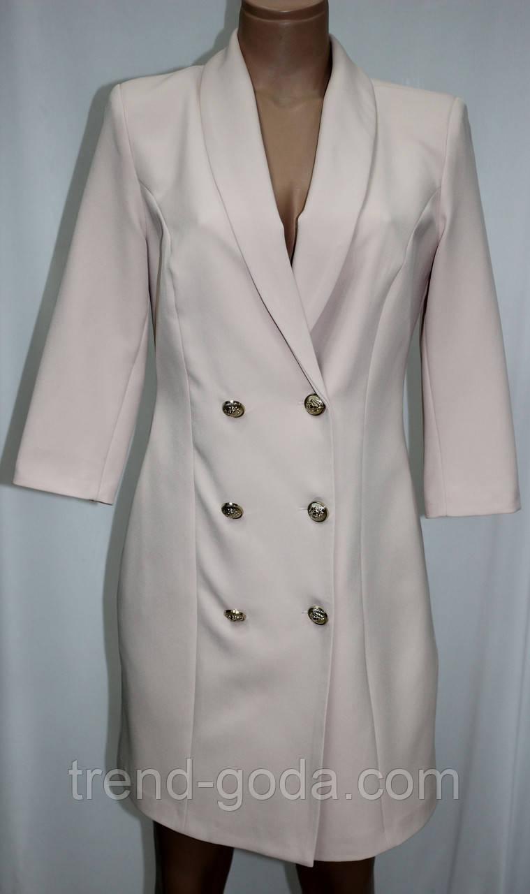 Платье пиджак женское, молочное, Турция