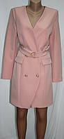 Платье пиджак женский, розовое, Турция