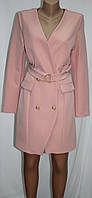 Платье пиджак женское, розовое, Турция