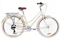 """Велосипед городской женский 28"""" Dorozhnik Sapphire 2019 алюминиевая рама 19"""" бежевый"""