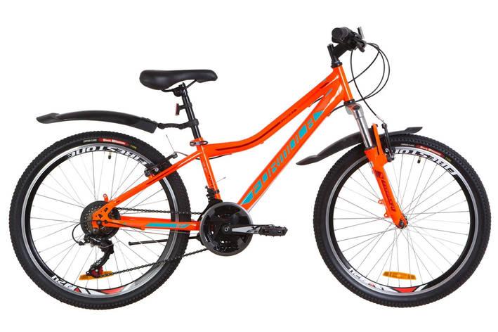 """Велосипед гірський підлітковий 24"""" Formula Forest AM 2019 сталева рама 12,5"""" оранжево-бірюзовий, фото 2"""
