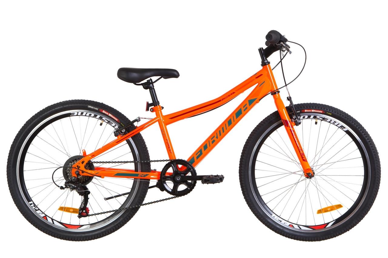 """Велосипед горный подростковый 24"""" Formula Forest Rigid 2019 стальная рама 12,5"""" оранжево-бирюзовый"""