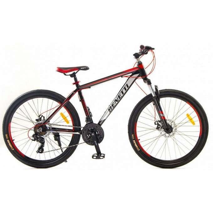"""Велосипед гірський Benetti 26 Vento DD алюмінієва рама 15,5"""" 17,5"""" чорно-червоний"""