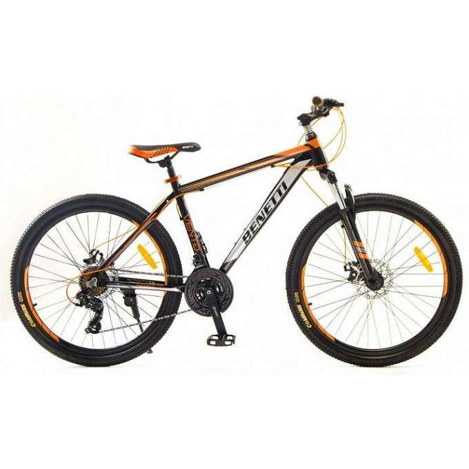"""Велосипед горный Benetti 26 Vento DD алюминиевая рама 15,5"""" 17,5"""" черно-оранжевый"""