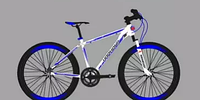 """Велосипед горный 26"""" Harmond Favorite DD алюминиевая рама 15"""" бело-синий"""