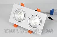 Світильник точковий світильник BR-120 20W WH 230V 175*92мм білий, фото 2