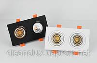 Світильник точковий світильник BR-120 20W WH 230V 175*92мм білий, фото 3