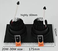 Світильник точковий світильник BR-120 20W WH 230V 175*92мм білий, фото 4