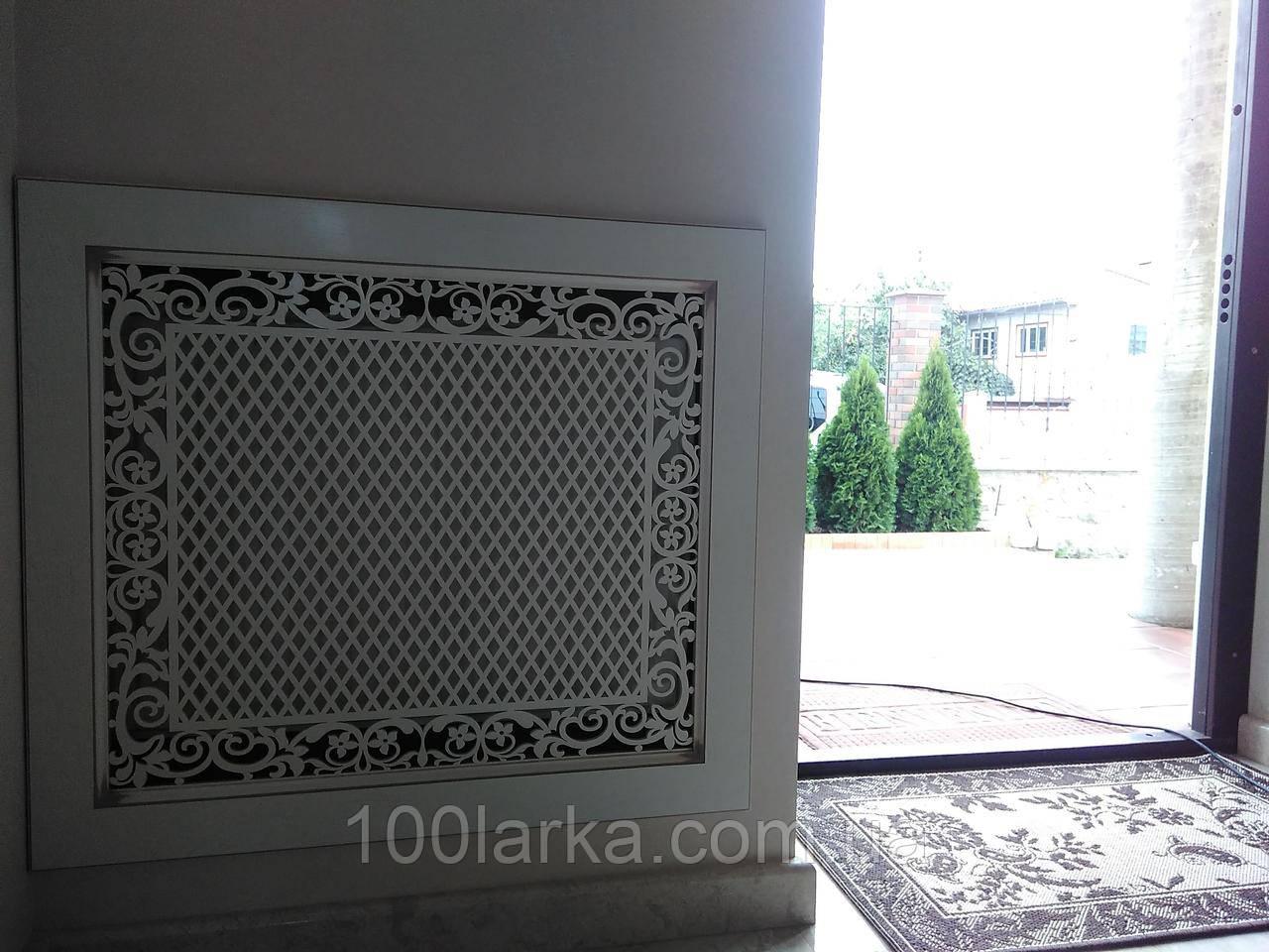 Екрани (фасад) на радіатори опалення МДФ, різьблена решітка №55
