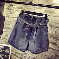 Джинсовые шорты женские на резинке, фото 1