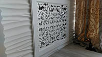 Решітки на батареї опалення, декоративні екрани R17-F60 білий з комплектом для монтажу, фото 1
