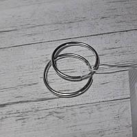 Серебряные серьги-кольца, d25 мм