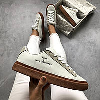 Кроссовки Puma x Han Kjobenhavn Clyde Stitched White with brown Белые с коричневым, фото 1