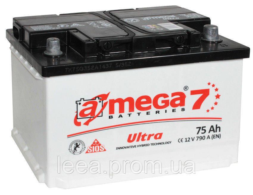 """Аккумулятор A-Mega (6 СТ-75-АЗ 790 А """"+"""" справа) Ultra M7"""