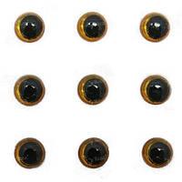 Глазки для воблеров 3D Strike Pro 4мм желтые 25шт
