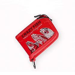 Кошелек для блесен Crazy Fish Spoon Case 13*20*3см Red