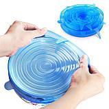 Силиконовые универсальные крышки вакуумные Super stretch silicone lids, фото 2