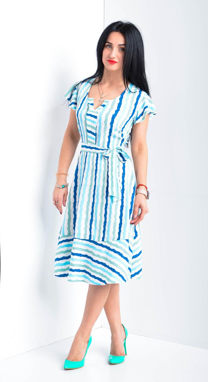 Очаровательное милое платье в полоску