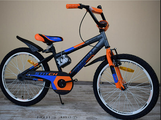 "Велосипед Azimut Stitch А 12""  оранжевый ***"