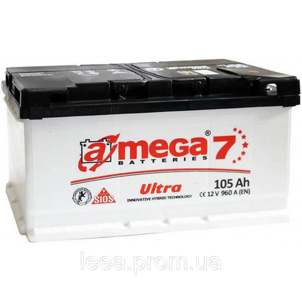 """Аккумулятор A-Mega (6 СТ-105-А3 950 А """"+"""" справа) Ultra M7"""