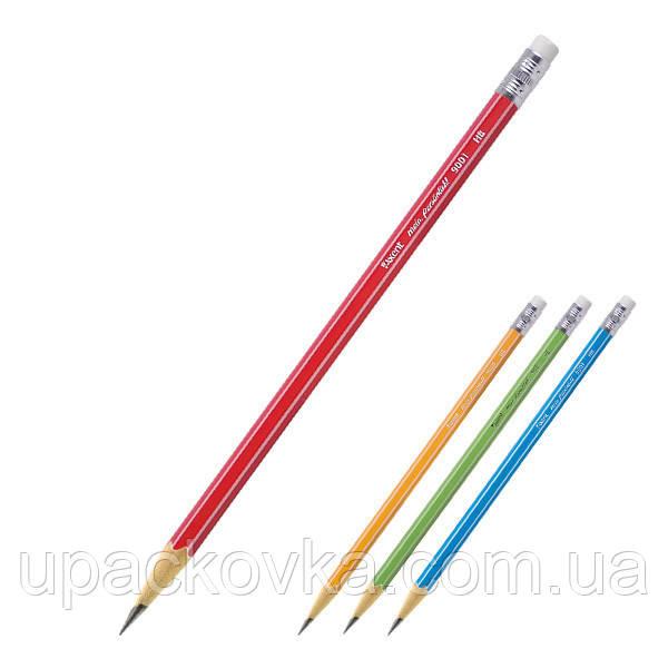 Карандаш графитный Axent 9001-A с ластиком, НВ
