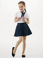 Блуза школьная с фатиновым бантом Смил 114648, цвет белый