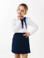 Блуза школьная с фатиновым бантом Смил 114646, цвет белый