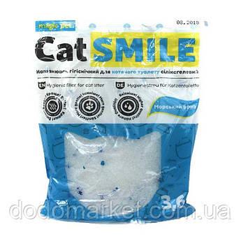 Наполнитель силикагель с морским ароматом Cat Smile 3,6 л мешок 12 шт
