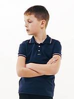 Футболка-поло для мальчика Смил, цвет темно-синий