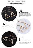 Серьги треугольники без вставок, фото 5