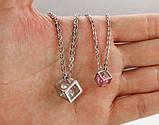 Парные кулоны для влюбленных Алмазный куб, фото 6