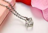 Парные кулоны для влюбленных Алмазный куб, фото 8