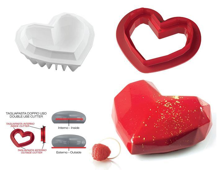 """Форма силиконовая для выпечки десерта """"Сердце"""",  Silikomart Италия"""