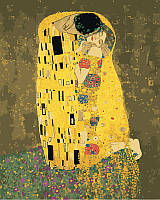 Картина по номерам.  Аура поцелуя 2, Густав Климт 40х50см арт. КНО4534