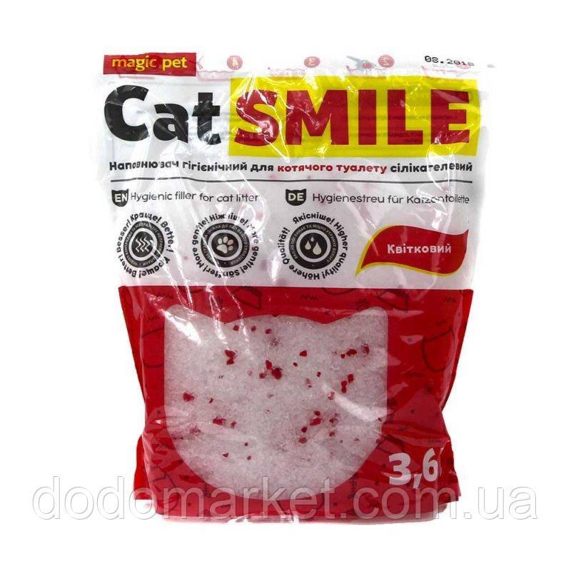 Наполнитель силикагель с цветочным ароматом Cat Smile 3,6 л мешок 12 шт