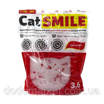 Наполнитель силикагель с цветочным ароматом Cat Smile 3,6 л