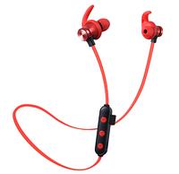 Беспроводные Bluetooth наушники гарнитура поддержка MicroSD карт Красный