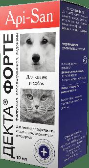 Декта Форте ушные капли для собак и котов 10 мл