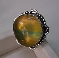 Серебряное кольцо с флюоритом , размер 18,6 от студии LadyStyle.Biz