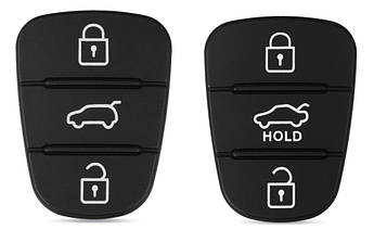 Резиновые кнопки-накладки на ключ Hyundai (Хюндай)