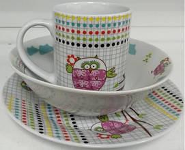Детский набор столовой посуды 3пр. Milika Sweet Couple 0690-TH5849 MIL