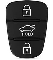 Резиновые кнопки-накладки на ключ Hyundai Solaris (Хюндай Солярис) симметрия